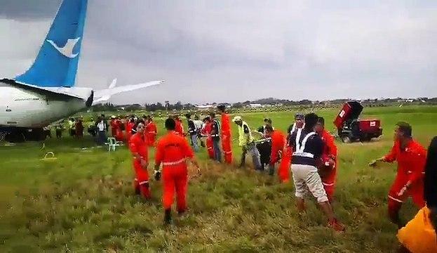 Philippines: Un avion de la compagnie chinoise Xiamen Air dérape en dehors de la piste en atterrissant à Manille