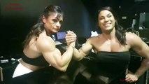 Renata Hronova vs Pavla Markova arm wrestling challenge. Strongest Women FBB