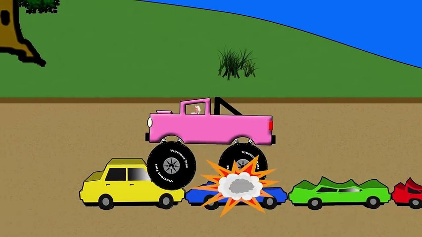 Vids4Ninos Grandes camiones aplastar coches colores para los niños