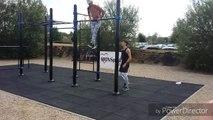 La Province - Démonstration de street workout de Kallos Boterdael  lors de l'inauguration de l'aire fitness du Grand Large à Mons