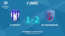 J3 : JA Drancy – US Concarneau (1-2), le résumé
