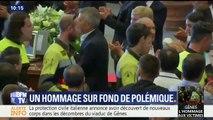 Viaduc effondré à Gênes : les secouristes applaudis avant le début de la cérémonie
