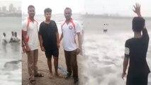 Mumbai में समुद्र की लहरों की चपेट में आए लड़के ने मौत को दी मात   वनइंडिया हिंदी