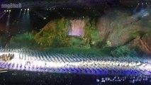 [ Trích lễ khai mạc ASIAD 2018 ] SVĐ Gelora Bung Karno, Jakarta, Indonesia ~19h ngày 18/08/2018 (GMT+8): Đồng diễn với sân khấu lớn nhất thế giới mô phỏng ngọn núi và thác nước - 1