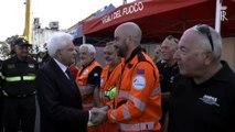 Genova, Mattarella nella zona rossa incontra i soccorritori