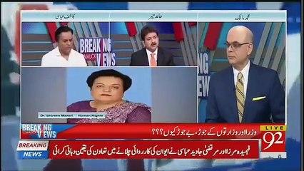 I'm shocked on Sherin Mazari & Shafqat Mehmood's ministries- Hamid Mir