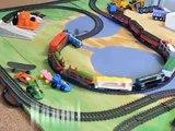 Power Trains Toy Train Crash and Lumber Yard Set
