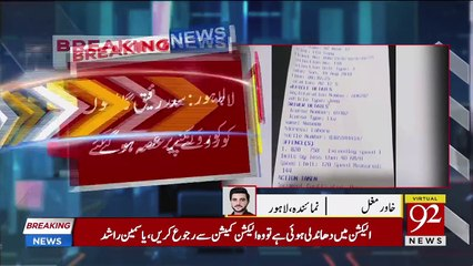 Khawaja Saad Got Angry on Challan issue against Him