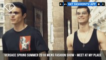 Donatella Versace Spring/Summer 2018 Mens Fashion Show Meet at My Place | FashionTV | FTV
