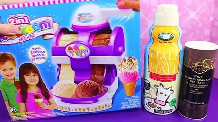 Ice Cream Maker With The The Real 2 In 1 Ice Cream Machine by Cra Z Art