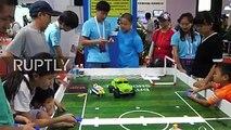 شاهد.. الصين تنظم معرضا لأحدث الروبوتات #الوطن #بكين #منوعات