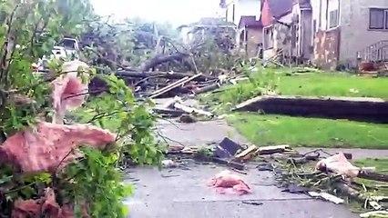 Raw Footage : Tornado N Minneapolis Kills, Destroys homes , and Devastate the Hood