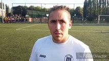 La Province - Football - Réaction d'Andy Culquin, le gardien de but de Flénu, après l'élimination de son équipe en coupe du Hainaut contre Beloeil (2-5)