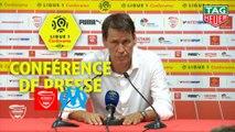 Conférence de presse Nîmes Olympique - Olympique de Marseille (3-1) : Bernard BLAQUART (NIMES) - Rudi GARCIA (OM) - 2018/2019