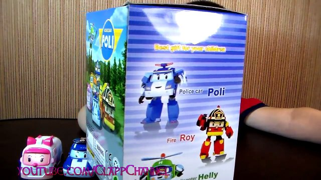 Toys Robocar Poli Play Doh Eggs Amber and Poli Rescue team