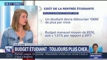 """Budget étudiant: """"cette année, c'est encore 1,31% d'augmentation du coût de la vie"""", rapporte la présidente de l'Unef"""