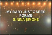 Nina Simone My Baby Just Cares For Me Karaoke Version