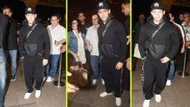 Priyanka Chopra & Nick Jonas Engagement: Nick Jonas opts for All-Black Look at Airport | FilmiBeat