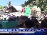 DALSIE ZEMETRASENIE V INDONEZII
