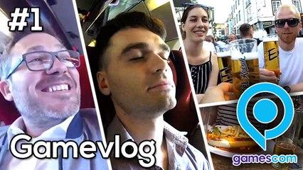 GameVlog Gamescom 2018 #1 : Ceux qui aiment les saucisses et la bière prendront le train