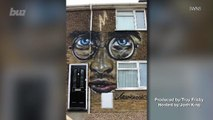 Harry Potter Fan Gets His Giant Mural of His Face on the Side of Her House