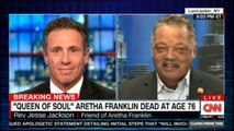 "Rev Jesse Jackson on ""Queen of Soul"" Aretha Franklin dead at age 76. #Breaking #News #ArethaFranklin #CNN #FoxNews"