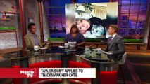 Haters gonna hate, hate, hate, hate, hate, but @TaylorSwift13 is cat-pitalizing on her feline friends! #PageSixTVs got the story on why T-Swift has trademarked her pets!