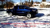 new Toyota Tacoma 4x4 TRD snow drifting video DHS