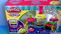 Play Doh Frosting Fun Bakery Set Sweet Shoppe Bake Cupcakes Play Doh Doceria Mágica playdo