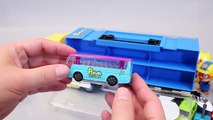 Pororo Car Carrier Tayo the Little Bus Garage Toy Surprise Eggs Learn Colors Numbers