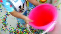 Bad Kid Steals Candy IRL Learn Colors with Candies for Children Family Fun, Kids Pretend Play