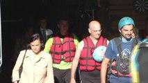 Ariège: le ministre de l'Éducation nationale fait du rafting