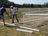 Préparatifs des installations pour les courses hippiques de ce samedi à Coulevon(70)
