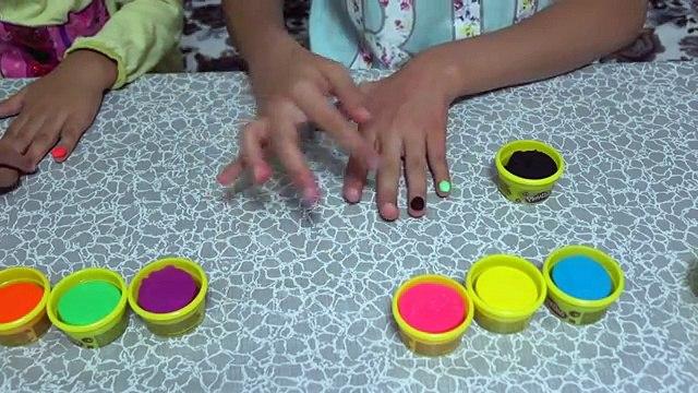 Oyun Hamurundan Tırnak Yapımı.DIY Play Doh Nails!