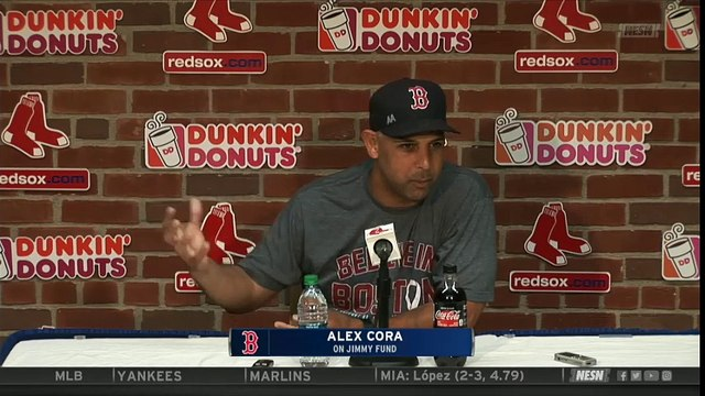 Alex Cora, Red Sox Players on Jimmy Fund