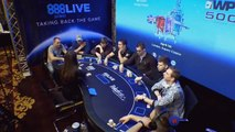 Blind on blind sometimes results in a fight to the death️ ️! #888pokerLIVE Bucharest