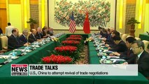 U.S., China to attempt revival of trade negotiations