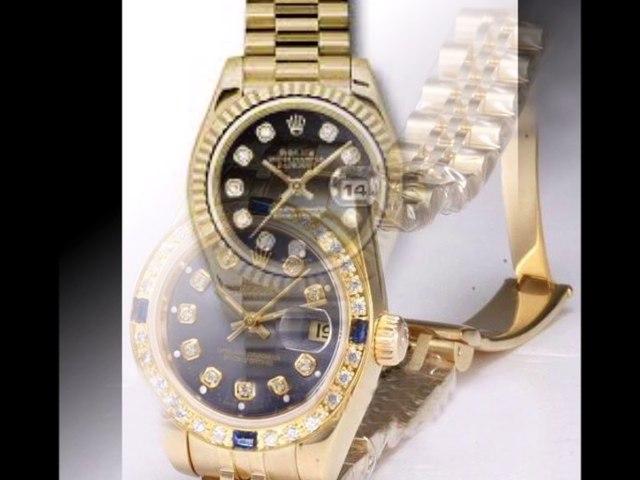 gold rolex whit diamonds