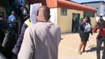 Simon Badisa Kgowe, suspect in the Tlokweng beheaded woman case arraigned in court at Extension II Magistrate Court. Remanded in custody. Kgowe begged the court
