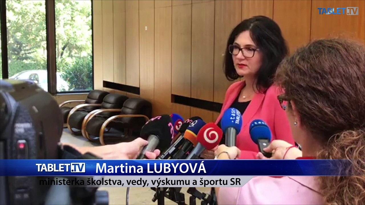 ZÁZNAM: Brífing ministerky školstva M. Lubyovej