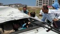 Bursa Takla Atan Otomobildeki Hamile Kadın Öldü, Eşi Yaralandı Hd