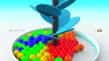 Learning colors for children with A lot of 3d Color Gumballs Videos for kids to learn Colo
