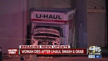 NEW  Woman IDd after being hit, killed by U-Haul