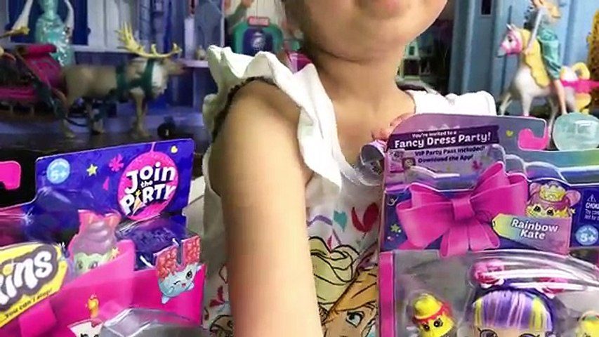 Big Shopkins Party Surprise Toys Egg Opening and Unboxing Toy Review by Hailey