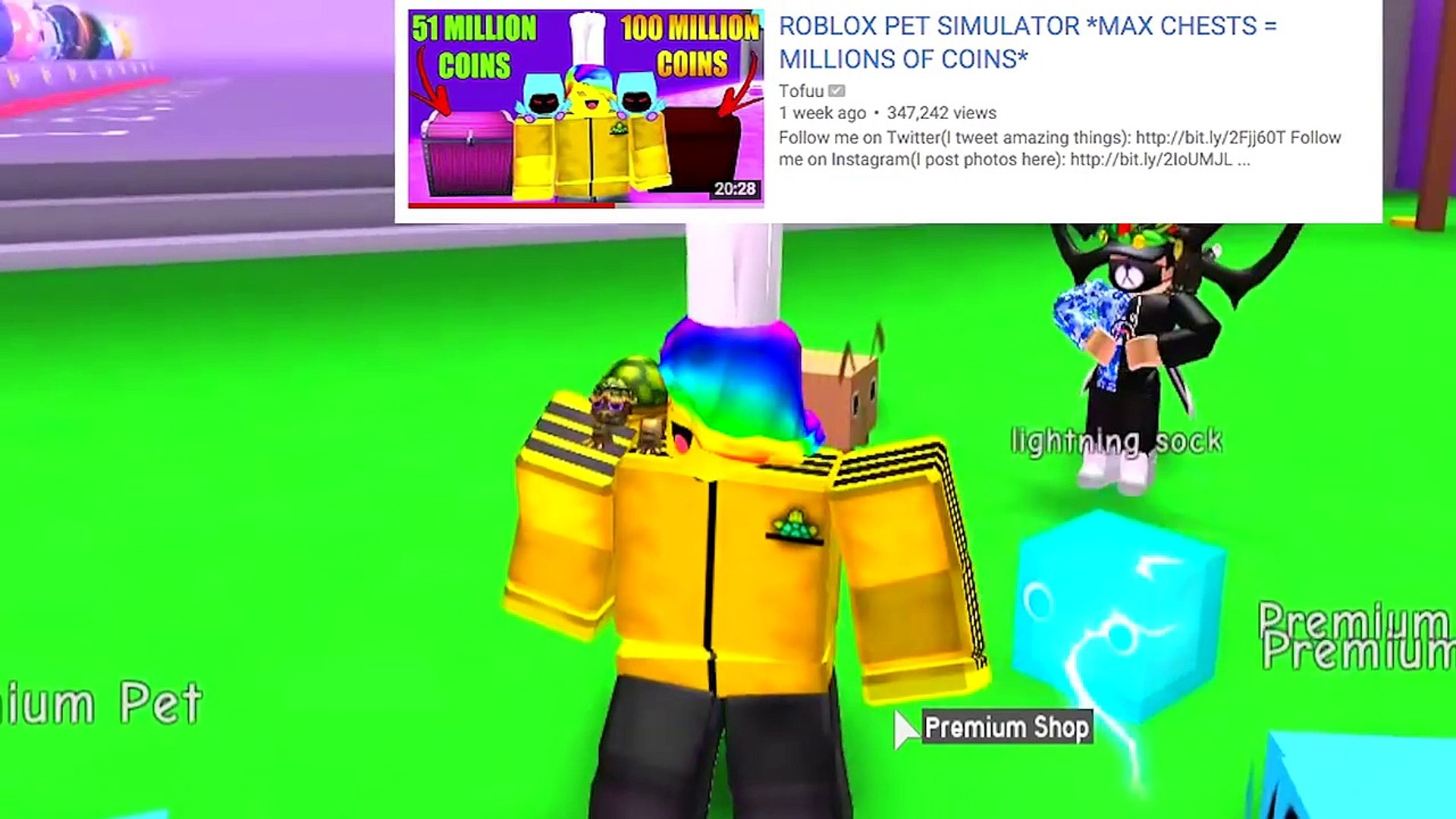 Roblox Pet Simulator Videos I Gave Her The Golden Dominus Pet And She Screamed Roblox Pet Simulator Dailymotion Video