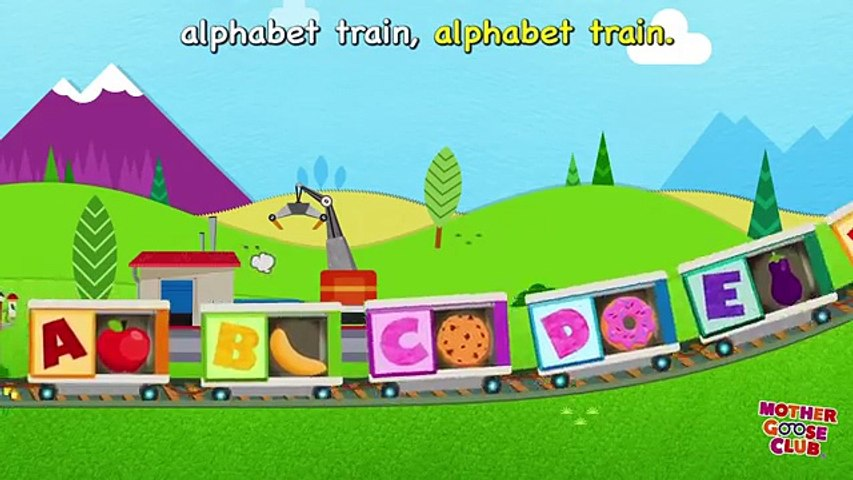 Alphabet Train Food Train   Mother Goose Club Rhymes for Kids