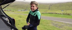 """""""We were fortunate enough to bump into Katrin W. Bærentsen who is the only Faroese female surfer in the islands. Her passion for surfing and love for the ocean"""