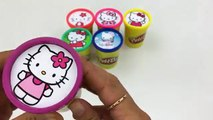 Cups Stacking Hello Kitty Play Doh Clay Fish Crab Molds Fun Toys Learn Colours C