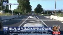 À Millas, le passage à niveau est rouvert à la circulation
