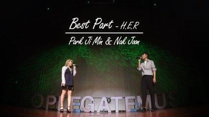 """[Somethin` Sweet] Best duet of """"K-pop star"""" winners! '낙준(Bernard Park)&박지민(Park Ji Min) - Best Part (H.E.R.)'"""